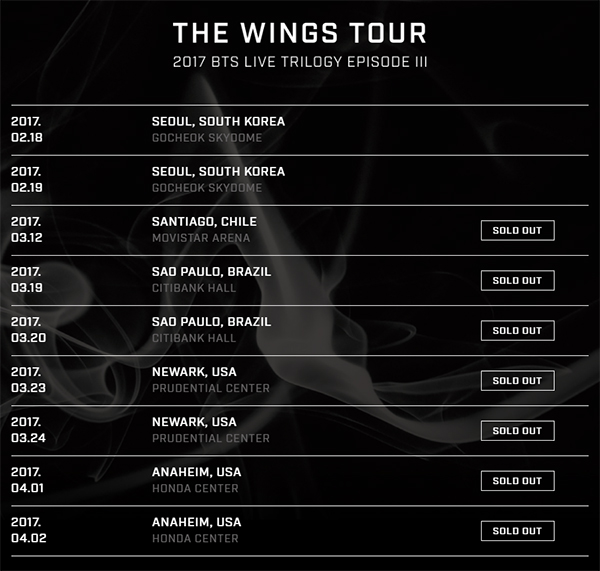 Bts Wings Tour Tickets Sell Out Within Minutes Nz