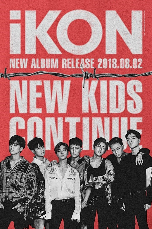 On July 23, YG Entertainment announced iKon's comeback with a poster, which reveals that iKon will release new mini-album 'NEW KIDS: CONTINUE' on August 2.
