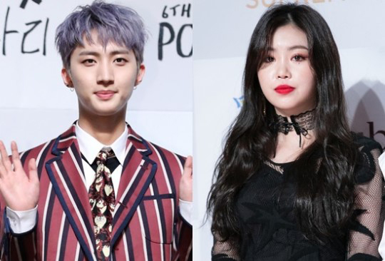 Recently, a photo of (G)I-DLE's Soojin and PENTAGON's Hui on a shopping date spread
