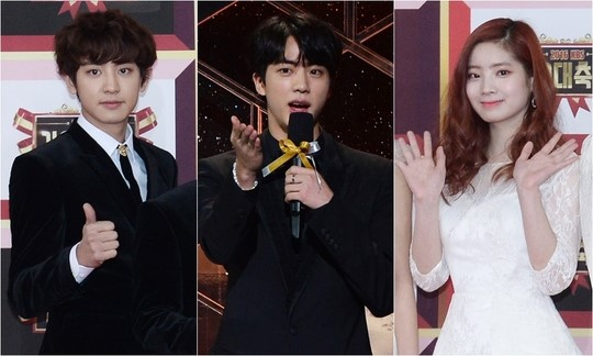 EXO's Chanyeol, BTS' Jin, and TWICE's Dahyun have been confirmed as the 3 MCs of the upcoming '2018 KBS Song Festival.' Chanyeol and Jin showed great chemistry as MCs of '2017 KBS Song Festival', and we expect to see their great teamwork again this year. This year's 'KBS Song Festival' has the theme 'Grand Fantasy Party.' A total of 26 teams will be bringing unique and spectacular performances. '2018 KBS Song Festival' will be held LIVE on December 28.